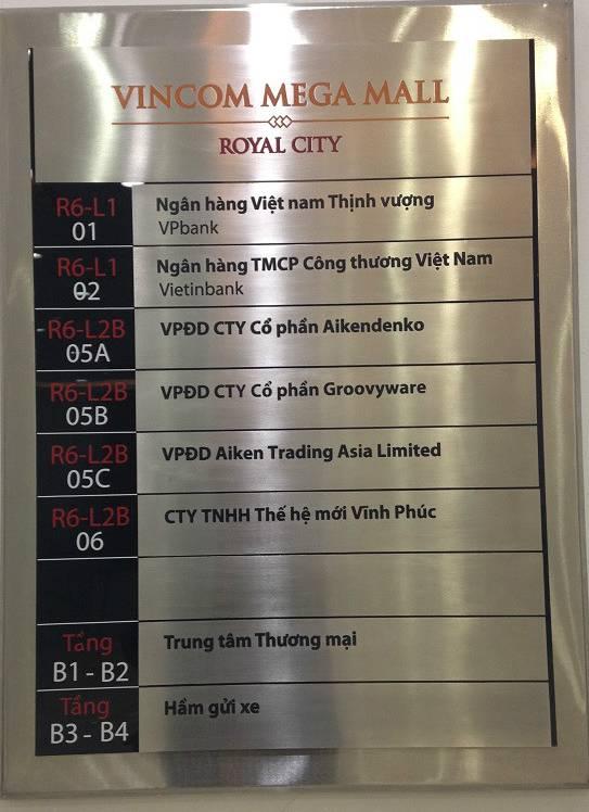 Bảng hiệu chỉ dẫn phòng ban tòa nhà chung cư giá rẻ